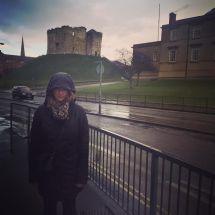 York molly in rain