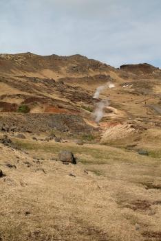 Reykjadalur hillside