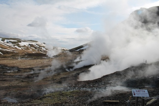 Steam vents on the hotsprings walk